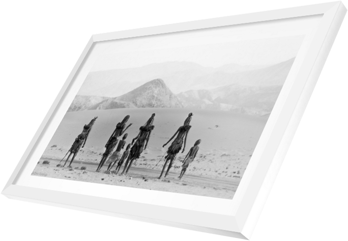 Chris Renshaw print in a white contemporary frame